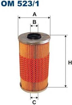 Alyvos filtras (FILTRON) OM523/1