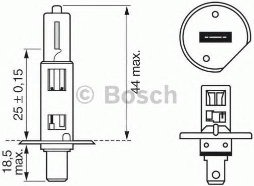 Lemputė, prožektorius; lemputė, priekinis žibintas; lemputė, rūko žibintas (BOSCH) 1 987 302 015