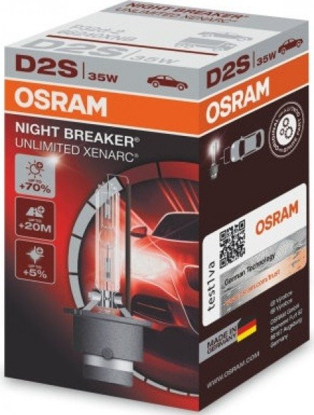 D2S OSRAM XENARC NIGHT BREAKER UNLIMITED 35w85V