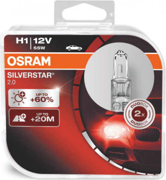 H1 OSRAM SILVERSTAR 2.0 55W12V