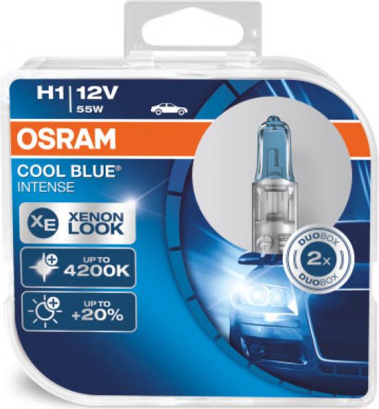 H1 OSRAM COOL BLUE INTENSE +20% šviesos 55W12V