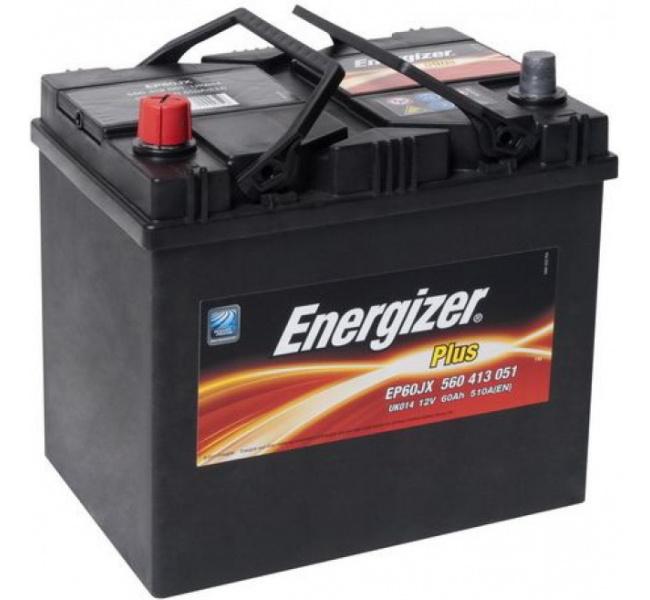Energizer 60 Ah Jap (+ -) Plus akumuliatorius
