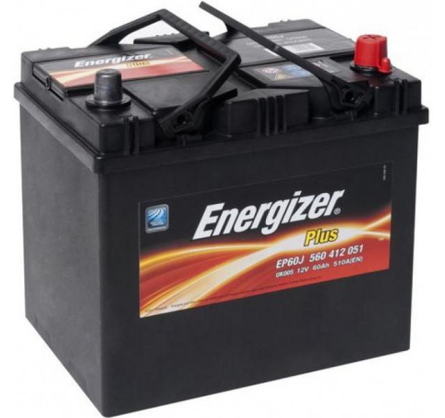 Energizer 60 Ah Jap (- +) Plus akumuliatorius