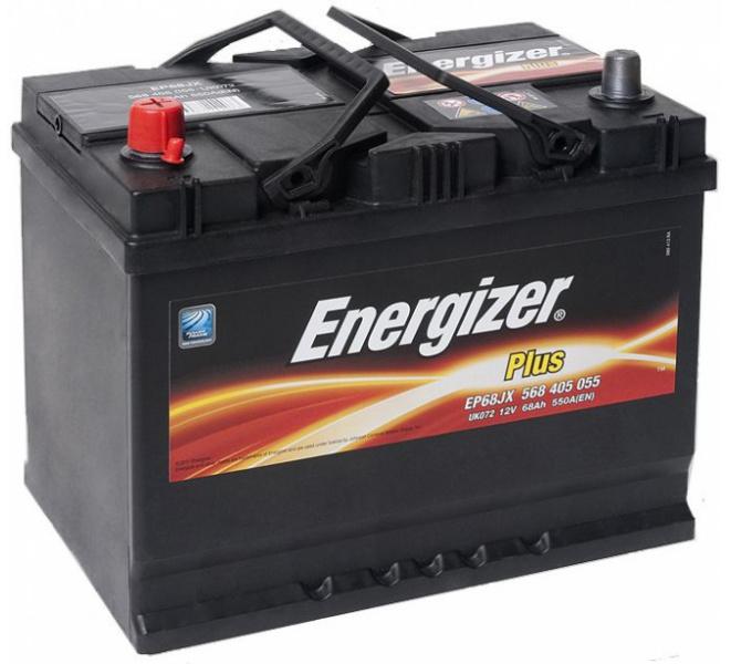 Energizer 68 Ah Jap (+ -) Plus akumuliatorius