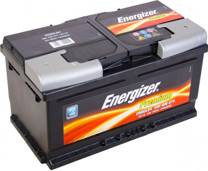 Energizer 80 Ah Premium akumuliatorius