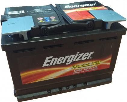 Energizer 70 Ah Premium AGM akumuliatorius