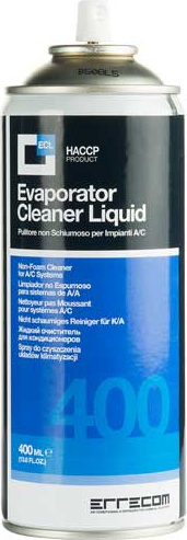 Oro kondicionieriaus valiklis / dezinfektantas (ERRECOM) AB1084.N.01.C EVAPORATOR CLEANER 0,4L+CANULA