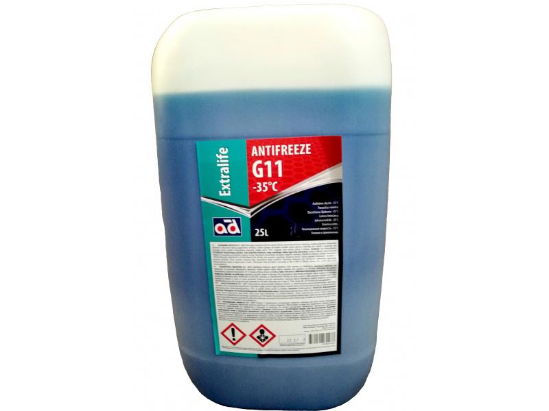 Aušinimo skystis (AD) ANTIFREEZE AD -35C G11 BLUE 25L