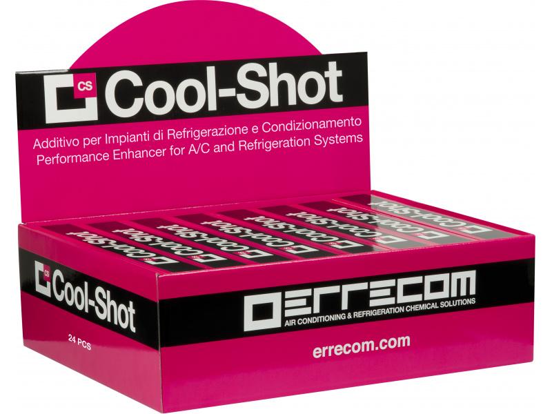 A/C sistemos našumo didinimo priemonė (ERRECOM) TR1122.C.J7.S2 COOL-SHOT 0,03L+R134A ADAPTER