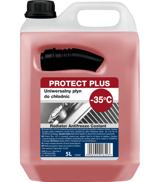 ANTIFRIZAS RED 5L ANTIFREEZE -35C PROTECT PLUS (K2) 11205
