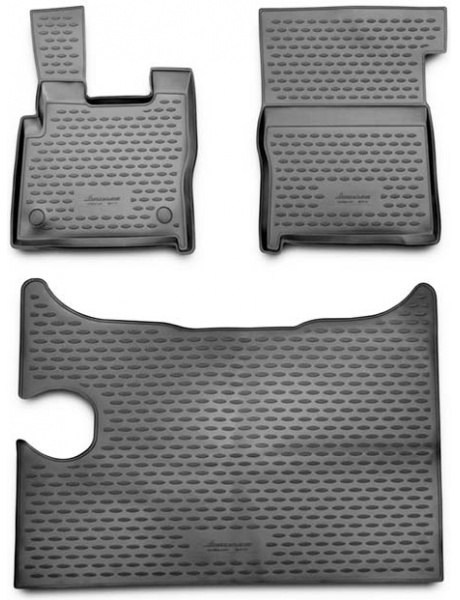 Guminiai kilimėliai 3D DAF XF 2014->, 3 pcs. /L13001G /gray