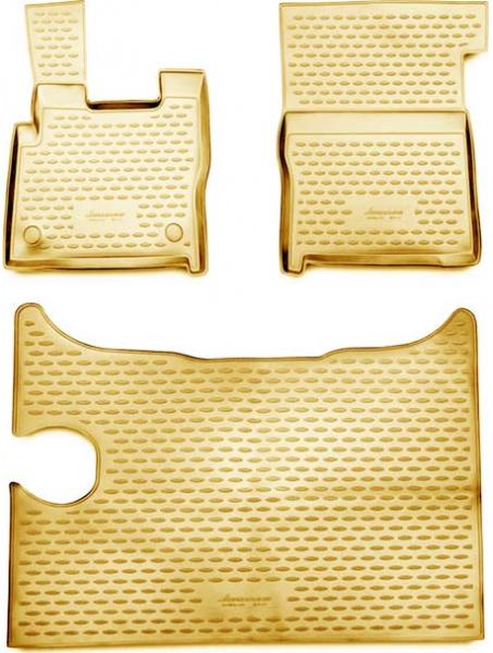 Guminiai kilimėliai 3D DAF XF 2014->, 3 pcs. /L13001B /beige