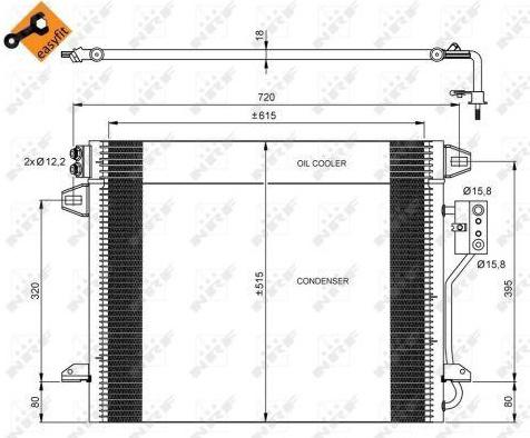Kondensatorius, oro kondicionierius (NRF) 35928