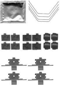 Priedų komplektas, diskinių stabdžių trinkelės (DELPHI) LX0521